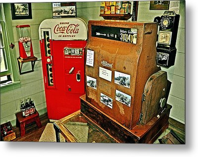 Old Time Station Metal Print by Marty Koch