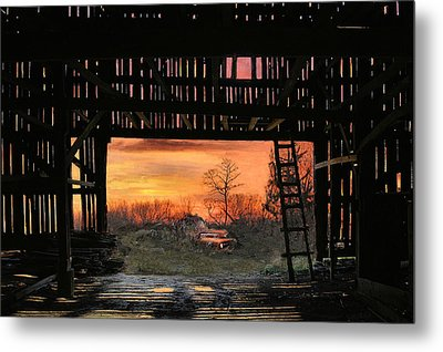 Old Timers Sunset Metal Print