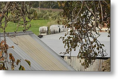 Old Tin Roof  Metal Print