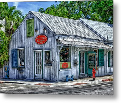 Old Town Bakery Metal Print by Frank J Benz