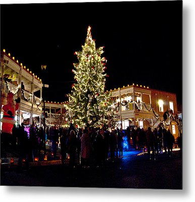 Old Town Christmas Tree Metal Print
