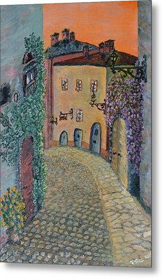 Metal Print featuring the painting Old Town In Piedmont by Felicia Tica