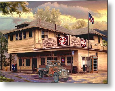 Old Town Irvine Country Store Metal Print by Ron Chambers