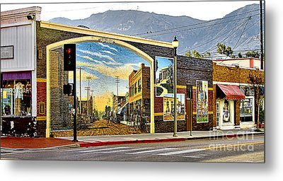 Old Town Mural Metal Print by Jason Abando
