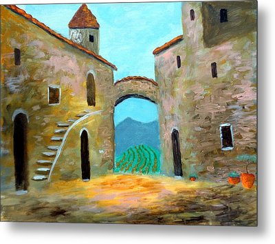 Old Town Of Tuscany Metal Print by Larry Cirigliano