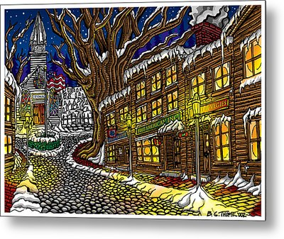 Old Town Metal Print by Thome Designs