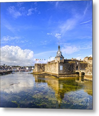 Old Town Walls Concarneau Brittany Metal Print by Colin and Linda McKie