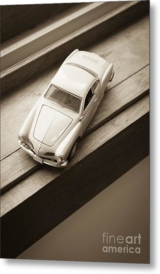 Old Toy Car On The Window Sill Metal Print by Edward Fielding