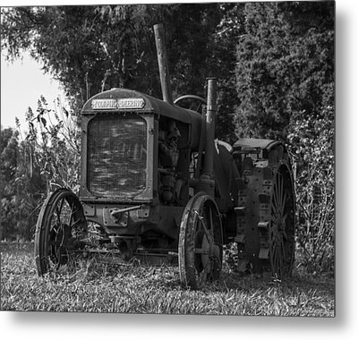 Old Tractor Metal Print by Amber Kresge