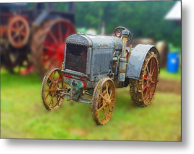 Metal Print featuring the photograph Old Tractor Print by B Wayne Mullins