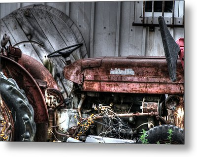 Old Tractor - Series Xiv Metal Print