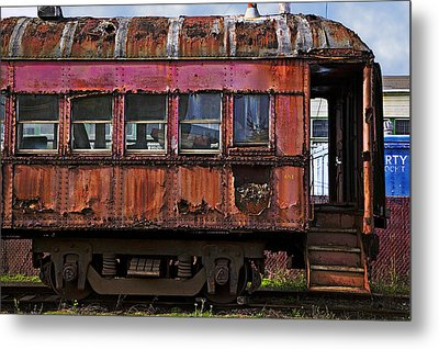 Old Train Car Metal Print by Garry Gay
