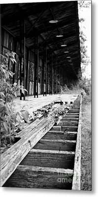 Old Train Station Metal Print by Randall  Cogle