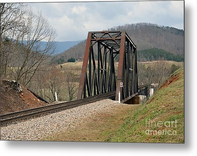 Old Train Trestle Metal Print by Brenda Dorman