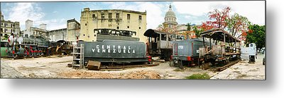 Old Trains Being Restored, Havana, Cuba Metal Print