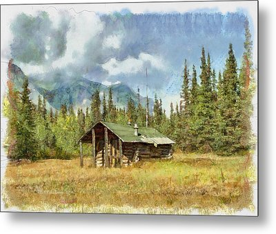 Old Trappers Cabin Metal Print