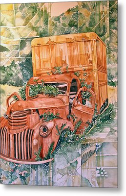 Old Truck Metal Print by Lance Wurst