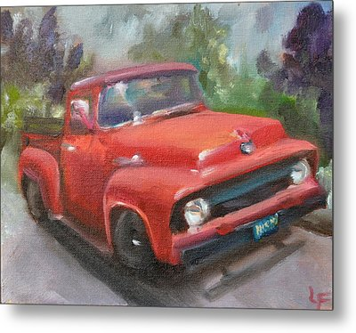Old Truck Metal Print by Lindsay Frost