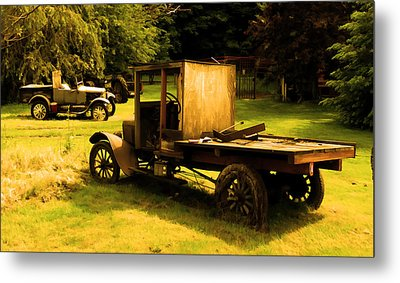Old Truck Metal Print by Sergey  Nassyrov