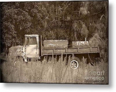 Old Tyme Truck Metal Print by Theresa Willingham