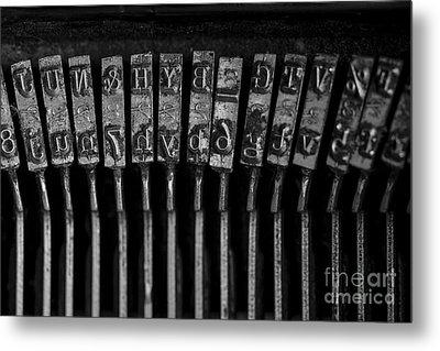 Old Typewriter Keys Metal Print by Edward Fielding