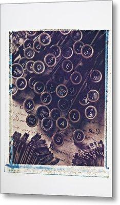 Old Typewriter Keys Metal Print by Garry Gay