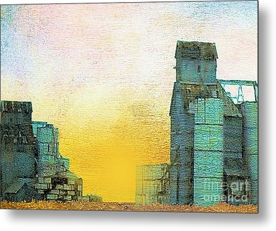 Old Used Grain Elevator Metal Print