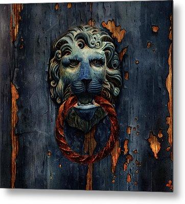 Old Venetian Door Knocker  Metal Print