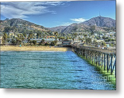 Old Ventura City From The Pier Metal Print by David Zanzinger