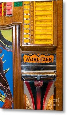 Old Vintage Wurlitzer Jukebox Dsc2780 Metal Print