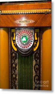 Old Vintage Wurlitzer Jukebox Dsc2806 Metal Print by Wingsdomain Art and Photography