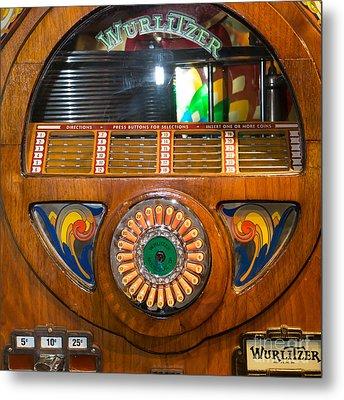 Old Vintage Wurlitzer Jukebox Dsc2824 Square Metal Print