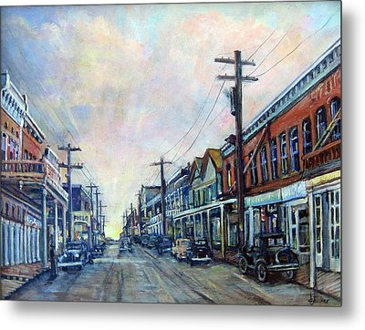 Old Virginia City Metal Print by Donna Tucker
