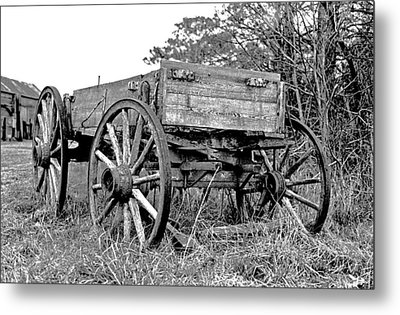 Old Wagon Metal Print by Mike Flynn