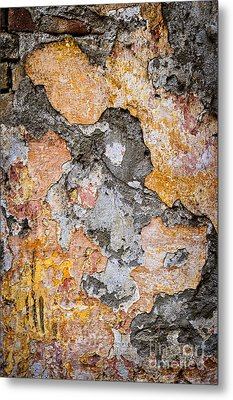 Old Wall Abstract Metal Print