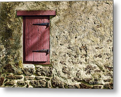Old Wall And Door Metal Print by Olivier Le Queinec