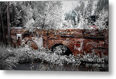 Metal Print featuring the pyrography Old Wall by Evgeniy Lankin