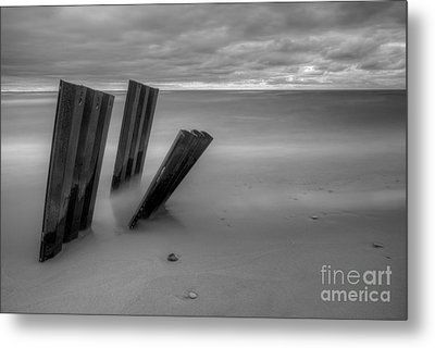 Old Walls Falling In Black And White Metal Print by Twenty Two North Photography