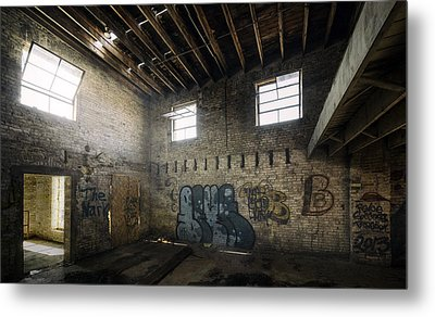 Old Warehouse Interior Metal Print by Scott Norris