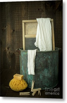 Old Washboard Laundry Days Metal Print