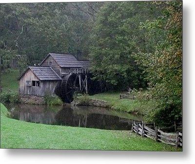 Old Water Mill Metal Print by Kathy Long
