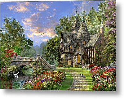Old Waterway Cottage Metal Print by Dominic Davison