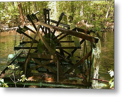 Old Waterwheel Metal Print