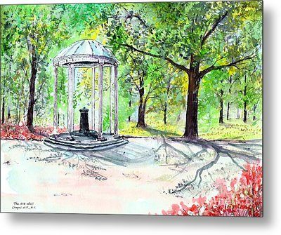 Old Well Chapel Hill Metal Print