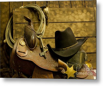 Old West Marshal Metal Print by Ronald Hoggard