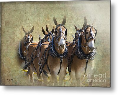 Old West Mule Train Metal Print