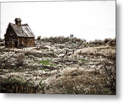 Old West School  Metal Print by Steve McKinzie