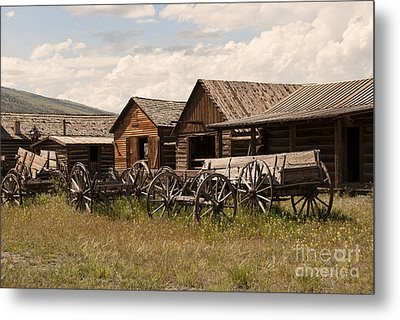 Old West Wyoming  Metal Print by Juli Scalzi