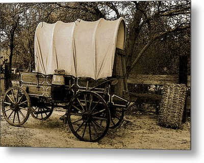 Metal Print featuring the mixed media Old Western by Elaine Malott