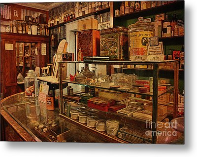 Old Western General Store Counter Metal Print by Janice Rae Pariza